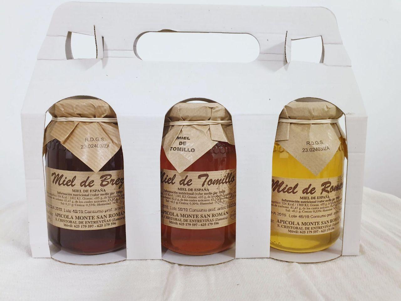 lote 3 tipos de miel monte san roman
