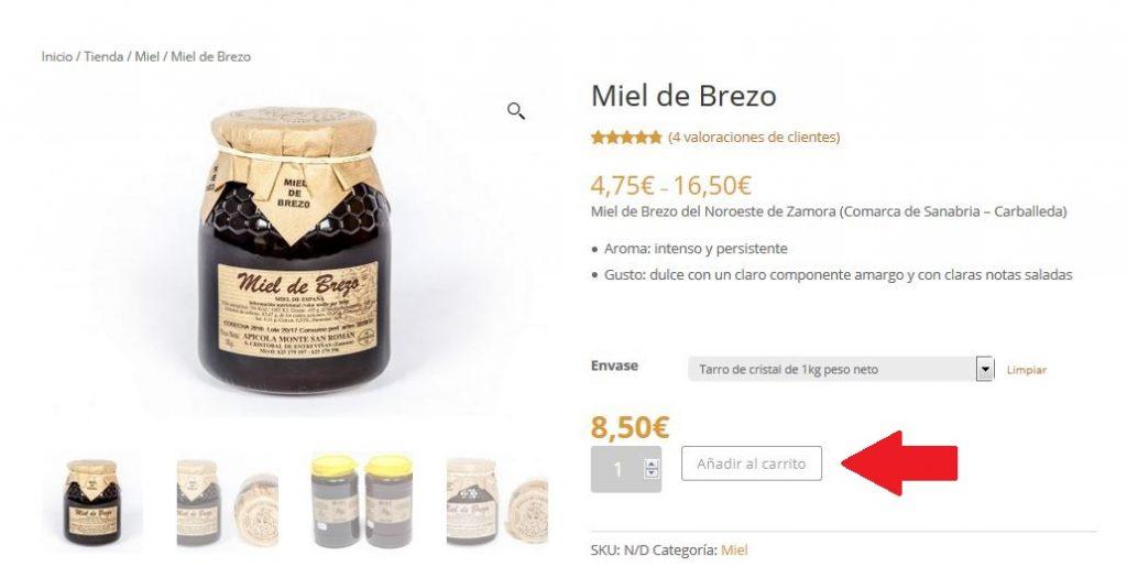 Compra online Miel de Brezo en Apícola Monte San Román