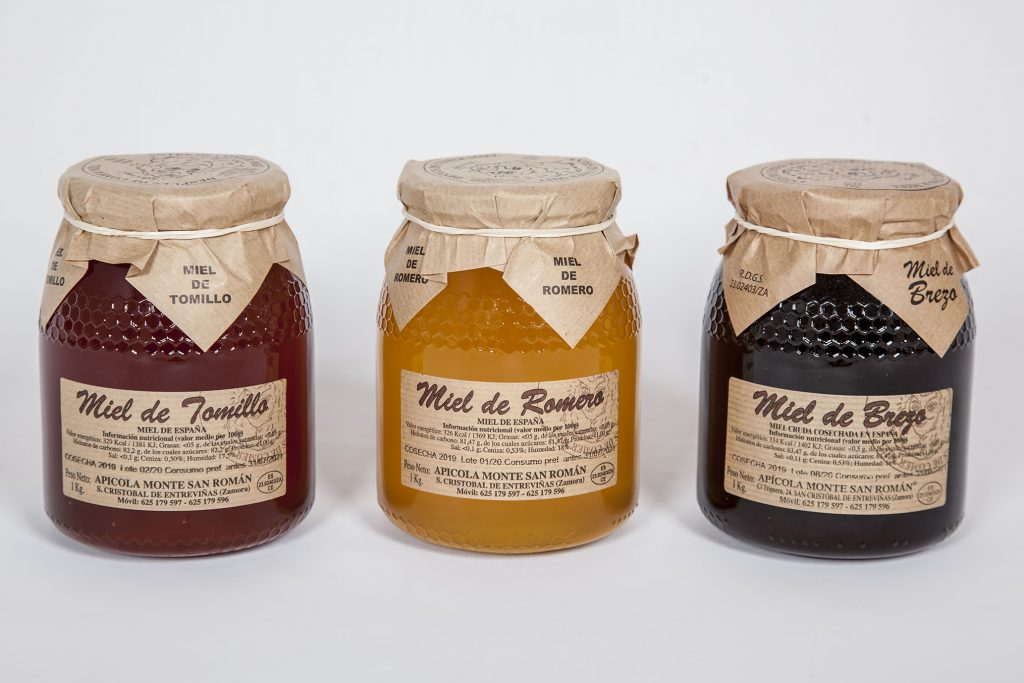 Etiquetado de la miel Monte San Román