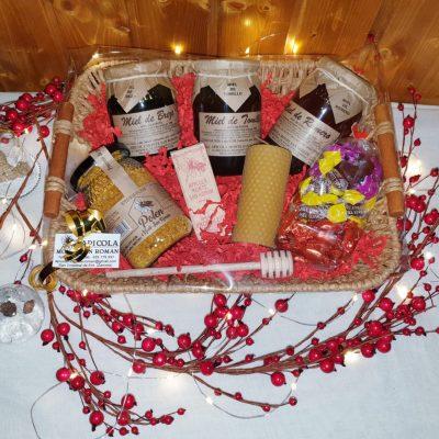 cesta de navidad 3 tarros miel monte san roman